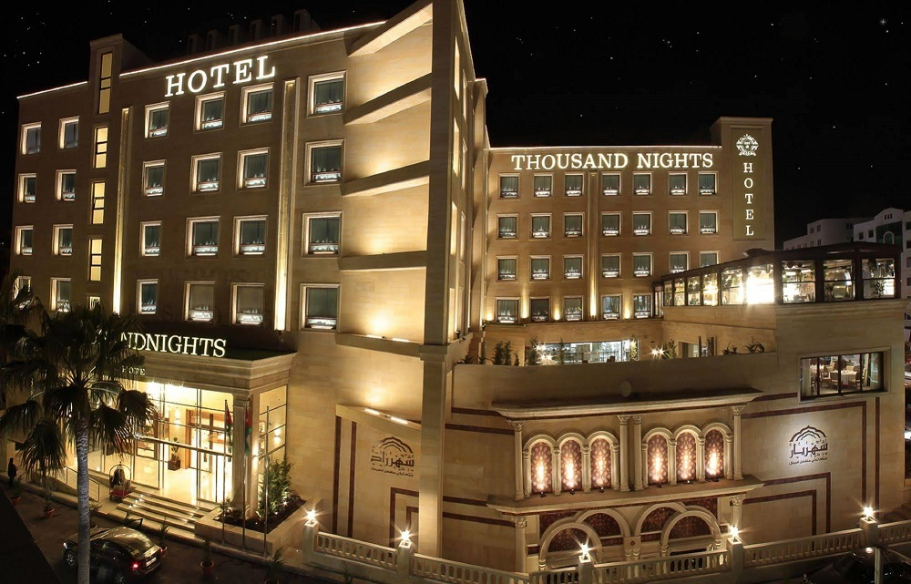 horeca automatic doors project thousand nights amman jordan jordania hotel lujo puertas automaticas