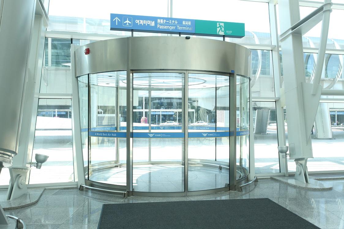 corea del sur aeropuerto puertas automaticas curvas manusa incheon airport automatic doors