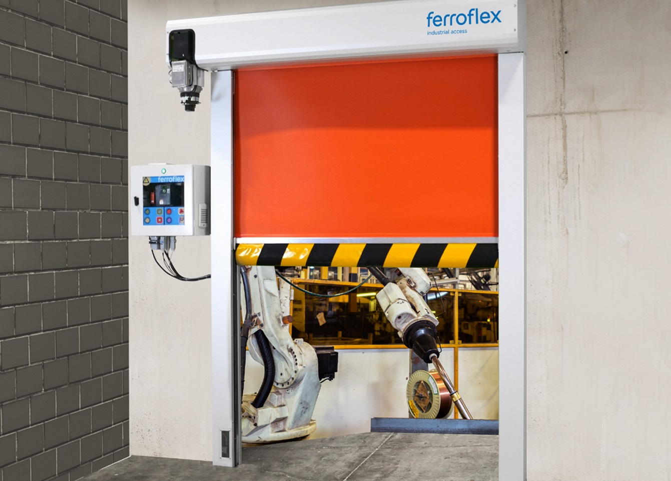 puerta automatica lineas de produccion manusa ferroflex production line automatic door